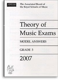 2007 Theory of Music Exams, Model Answers, Grade 3