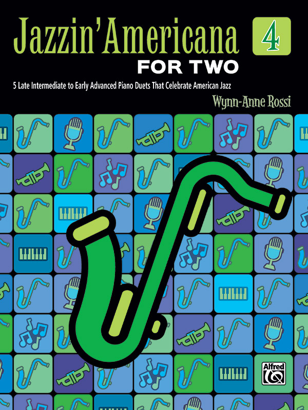 Jazzin' Americana for Two, Book 4 (Book)