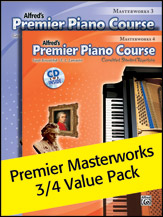 Premier Piano Course: Masterworks, Books 3-4 Value Pack (Packet)