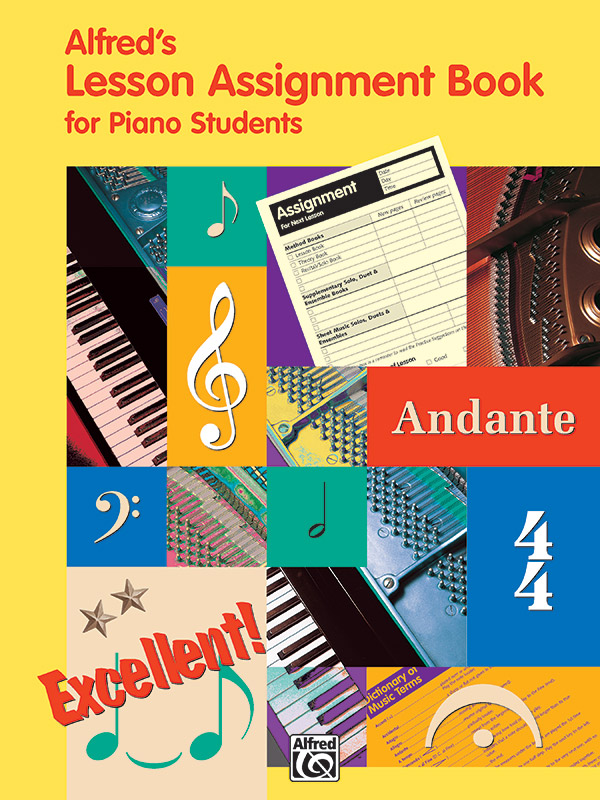 Alfred's Music Lesson Assignment Book for Piano Students