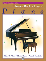 Alfred's Basic Piano Library - Theory Book Level 6