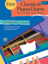 Easy Classical Piano Duets for Teacher and Student (1p, 4h) - Book 1