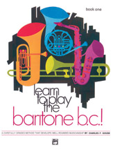 Learn to Play Baritone B.C.! Book 1 Sheet Music by Gouse, Charles - Alfred Publishing Company - Prima Music Cover