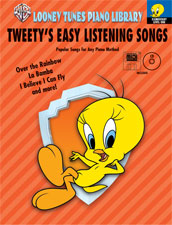 Looney Tunes Piano Library, Level 1: Tweety's Easy Listening Songs (Book, CD & GM Disk)