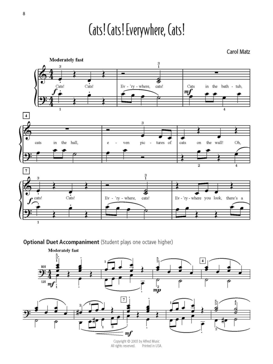 Carol Matz's Favorite Solos, Book 2 (Book) Sheet Music by Carol Matz - Alfred Publishing Company - Prima Music Inside Page