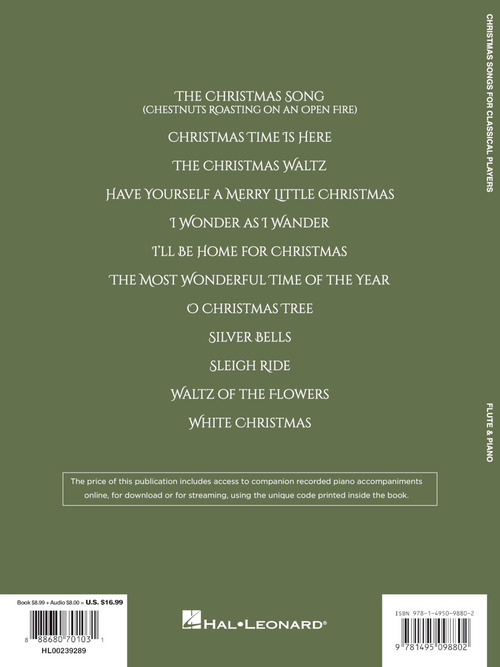 Christmas Songs for Classical Players - Flute and Piano - Flute - With  online audio of piano accompaniments Sheet Music by Various - Hal Leonard -