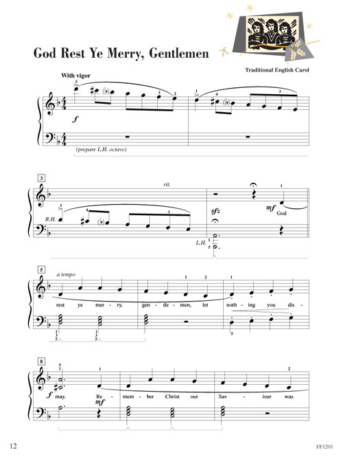 piano adventures christmas book level 3b sheet music. Black Bedroom Furniture Sets. Home Design Ideas