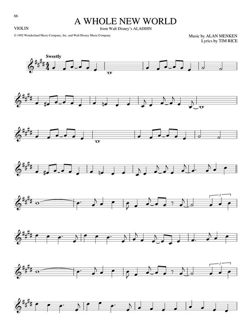 The Big Book of Disney Songs - Violin Sheet Music by