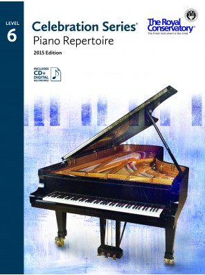 Celebration Series (2015 Edition) - Piano Repertoire 6 (Includes Digital Recordings) Sheet Music by The Royal Conservatory Music Development Program - Frederick Harris Music - Prima Music Cover