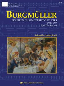 Burgm�ller: Eighteen Characteristic Studies, Opus 109