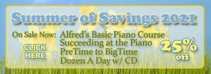 Summer of Savings at Prima Music - Piano Music Teachers save 25% on over 1.4 million items with free shipping - Sheet Music and more!