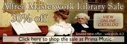 Alfred's Masterwork Library Sale at Prima Music - Piano Music Teachers save 30% on the entire library - Sheet Music and more!