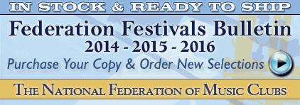 National Federation of Music Clubs Festivale Bulletin 2014-2016 at Prima Music for Piano Music Teachers