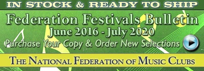 National Federation of Music Clubs Festivals Bulletin 2017-2020 at Prima Music for Piano Music Teachers