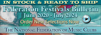 National Federation of Music Clubs NFMC Festivals Bulletin 2020-2024 at Prima Music for Piano Music Teachers