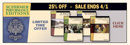 G. Schrimer Performance Editions Sale at Prima Music - Piano Music Teachers save 25% on all items - Sheet Music and more!