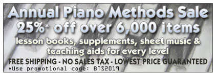 Piano Methods Sale at Prima Music - Piano Music Teachers save 20% on  all piano teaching books with free shipping - Sheet Music and more!