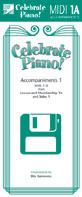 Celebrate Piano! - MIDI Accompaniments 1A