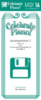 Celebrate Piano! - MIDI Accompaniments 1A by Cathy Albergo, J. Mitzi Kolar, Mark Mrozinski - Stipes Publishing - Prima Music Cover