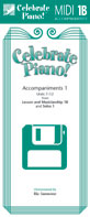 Celebrate Piano! - MIDI Accompaniments 1B by Cathy Albergo, J. Mitzi Kolar, Mark Mrozinski - Stipes Publishing - Prima Music Cover